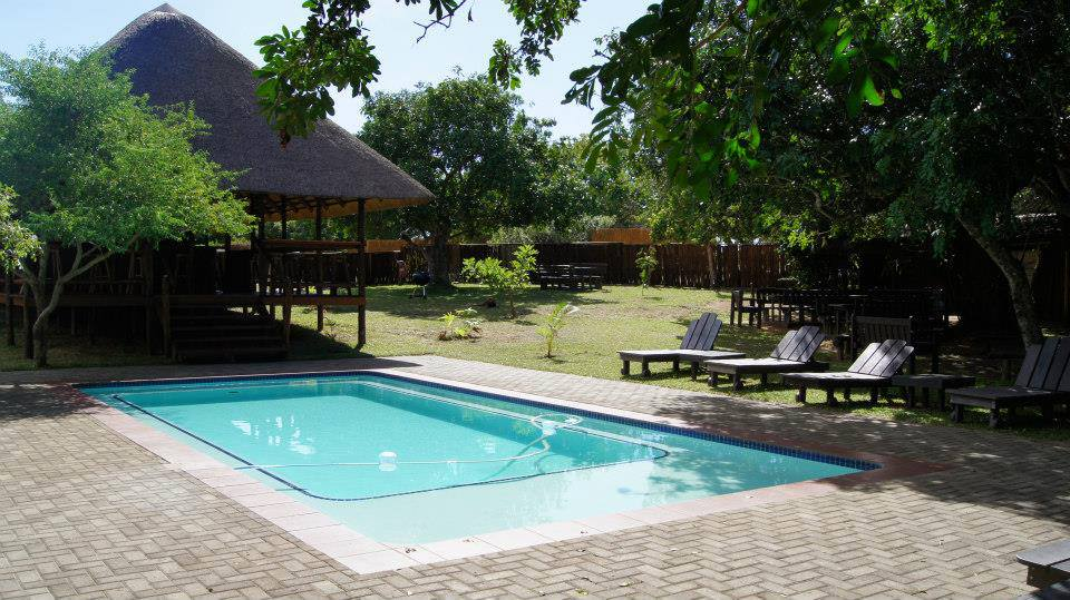 Swimming pool at Utshwayelo Lodge Kosi Bay