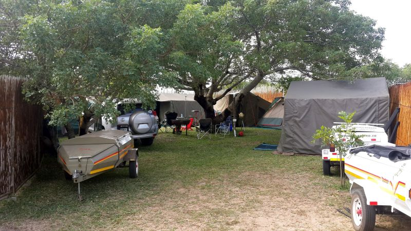 View of Utshwayelo Kosi Bay Mouth Campsite