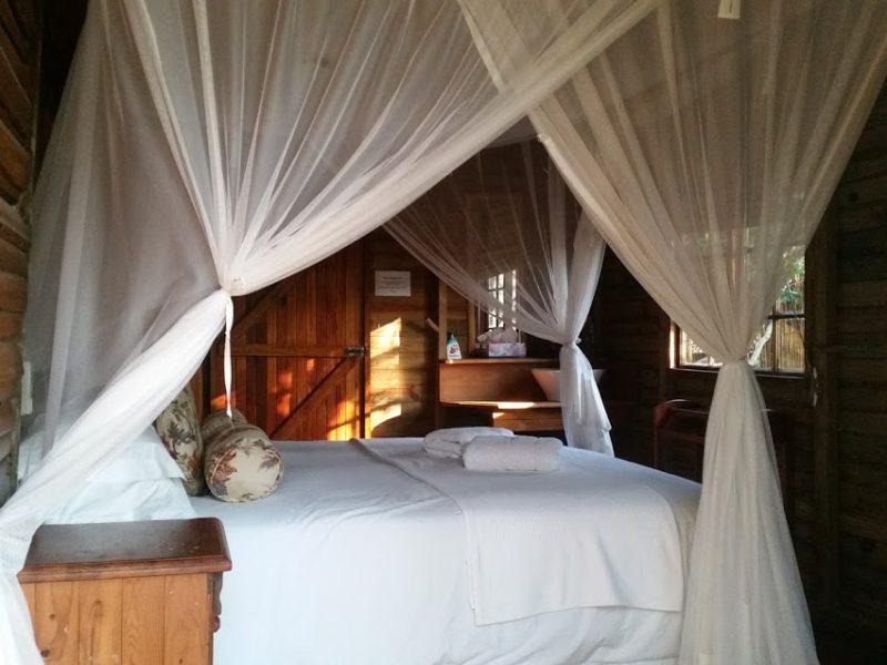 Rustic chalet accommodation at Kosi Bay