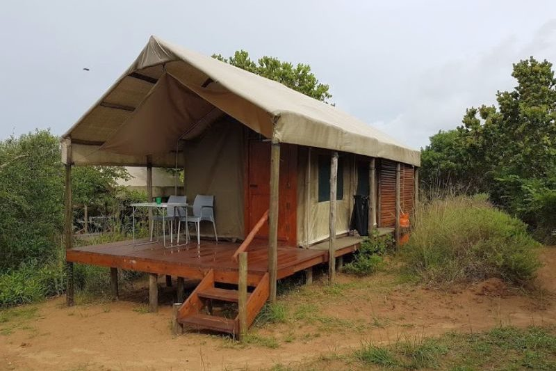 Large permanent tent at Utshwayelo lodge & camp, Kosi Bay