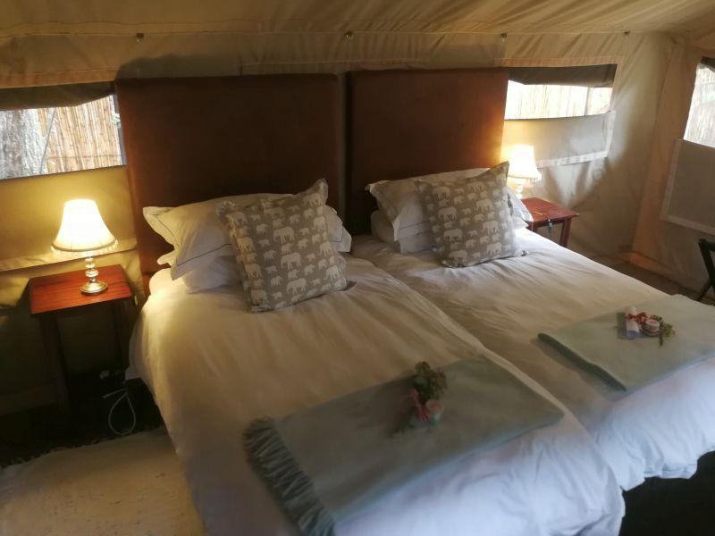 Interior of Tusker Suite, Utshwayelo Lodge & Camp