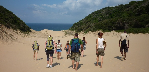 Hiking at Utshwayelo Kosi Mouth Lodge and Camp