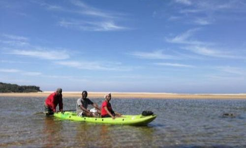 Canoeing at Kosi Bay Mouth
