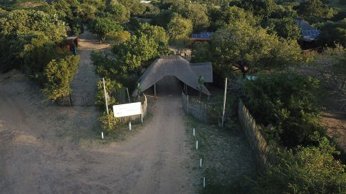 Utswayelo Lodge entrance, Kosi Bay Mouth