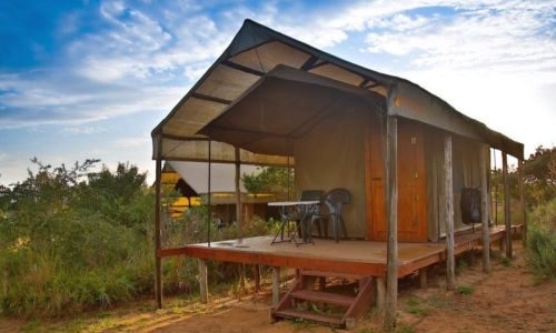 Tented camp accommodation at Kosi Bay Mouth, Utshwayelo Lodge & Camp