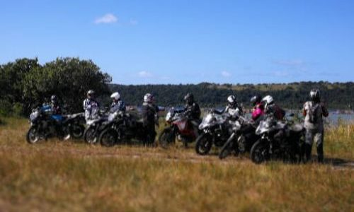 Motorbikes at Utshwayelo Lodge, Kosi Mouth