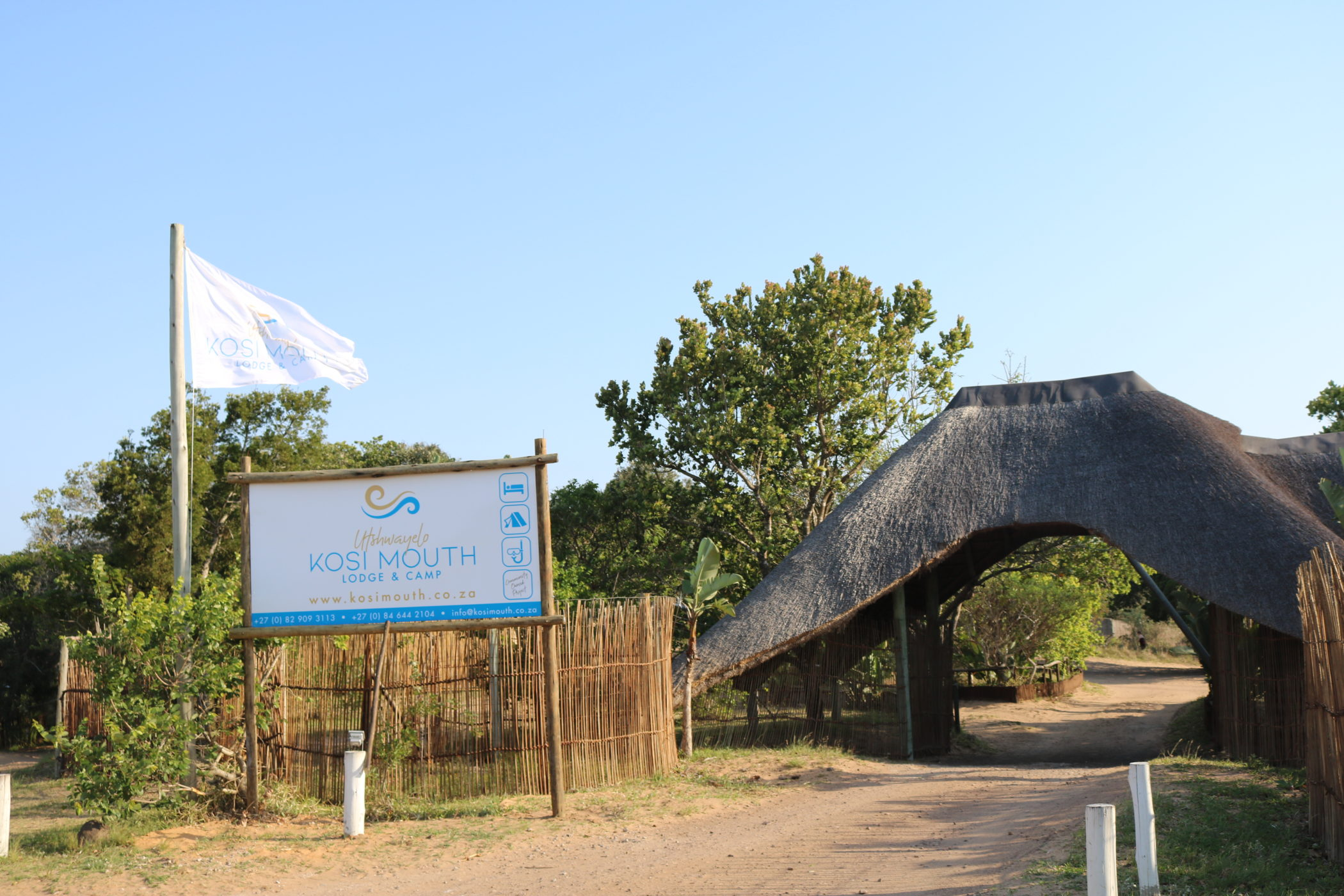 Utshwayelo Kosi Mouth Lodge and Camp Entrance
