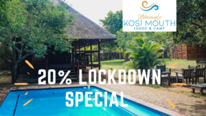 Lockdown special and pool area of Kosi Bay